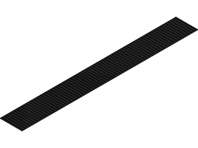 Bar Grating Serrated Or Smooth Equation Driven Sizing 3d Cad Model Library Grabcad