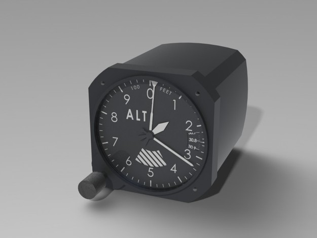 Reading Altimeter Gauge Gauge Sensitive Altimeter