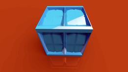 Cubesat one piece