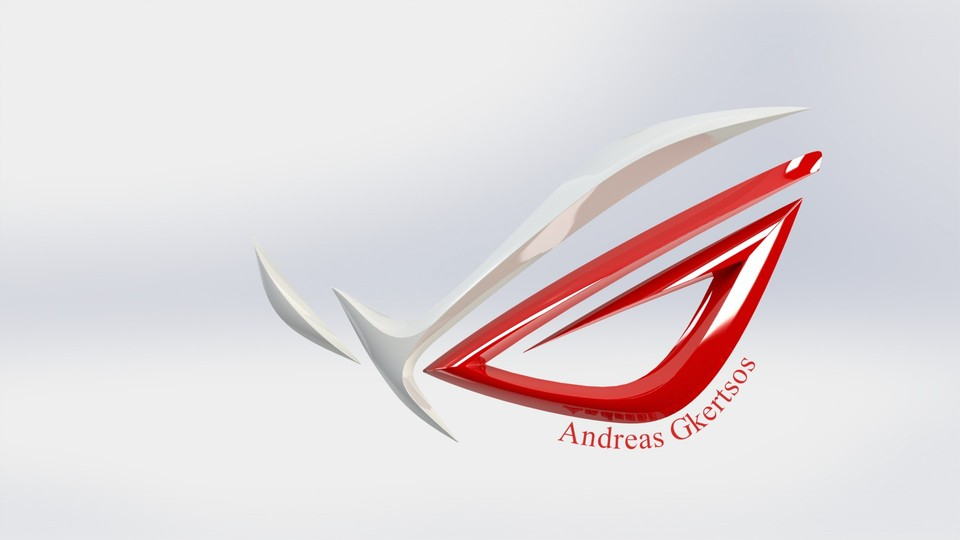 asus r o g logo 3d cad model library grabcad rh grabcad com republic of gamers logo vector republic of gamers logo meaning
