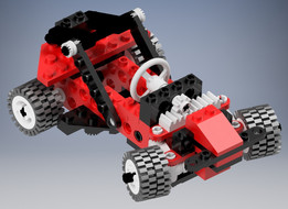 Lego 8808 F1 Racer and Buggy