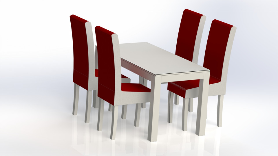 Dining table   3D CAD Model Library   GrabCAD
