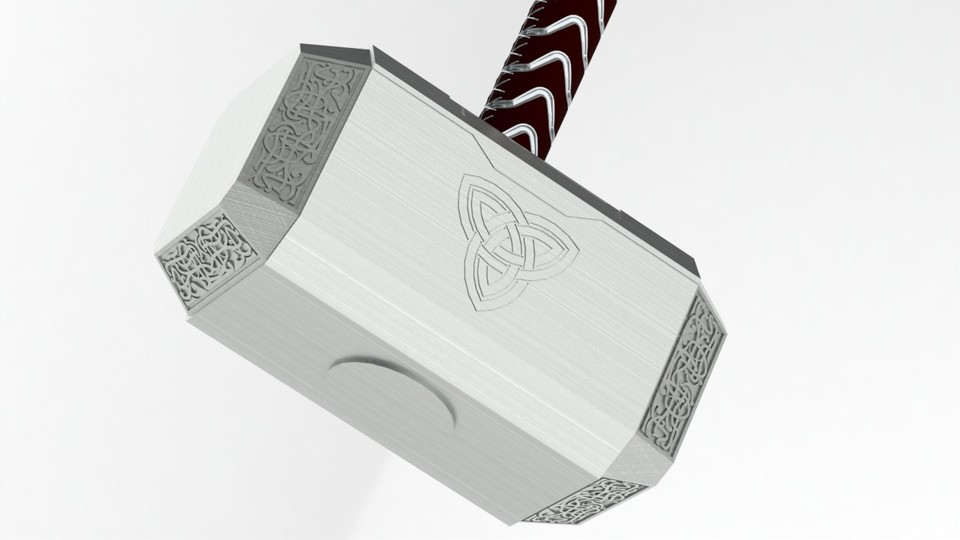 thor hammer 3d cad model library grabcad