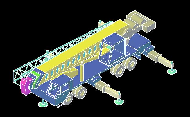 Mobile Crane Cad Block : Portable crane autocad d cad model grabcad