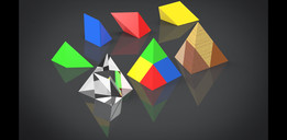 »3D-Puzzle Of A Triangular Pyramid With 4 Prismatic Parts«