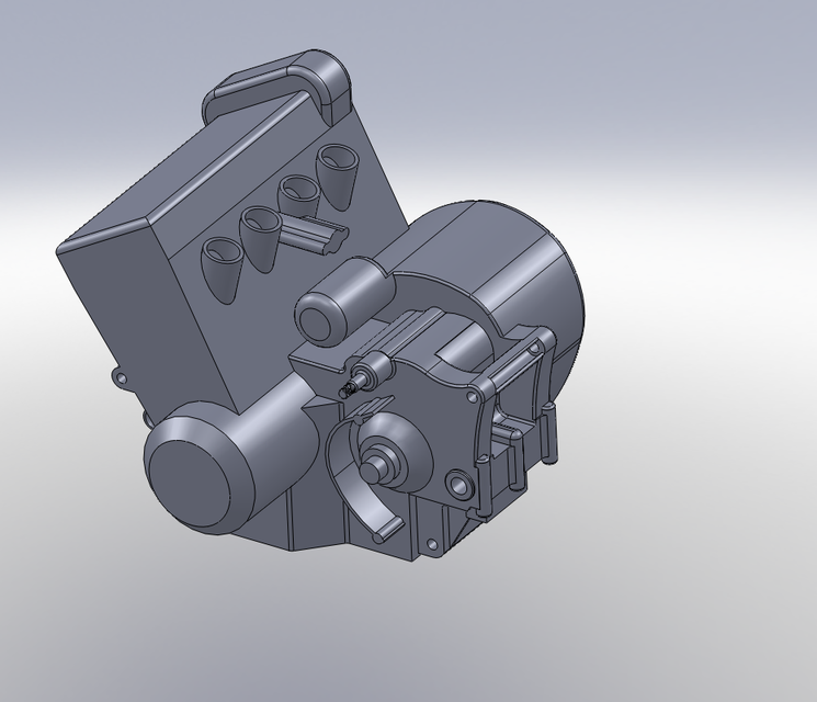 Solidworks Model Of Honda Cbr600rr Engine 3d Cad Model