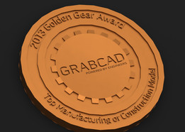 Golden Gear Challenge Coin