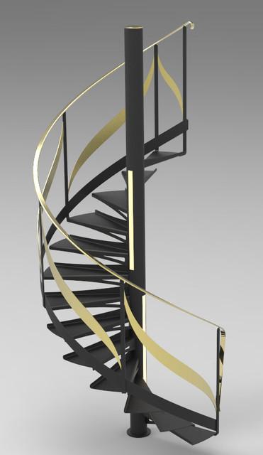 Escalier colimaçon   3D CAD Model Library   GrabCAD