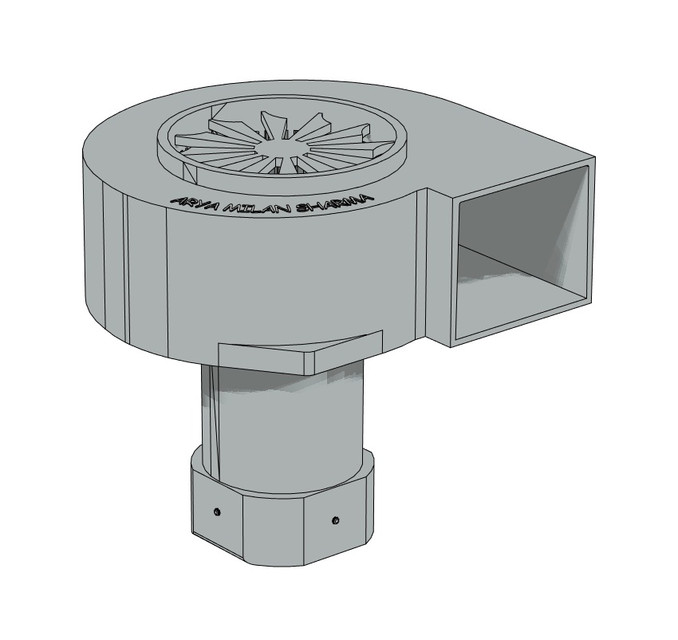 Centrifugal Supercharger Design: 3D CAD Model Library