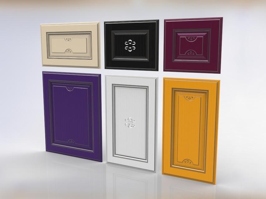 Kitchen Cabinet Doors 3d Cad Model Library Grabcad