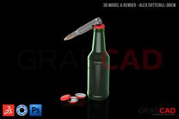 50 Cal Bottle Opener BMG