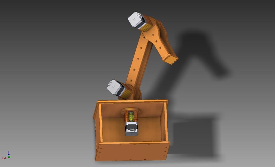 Robotic Arm with NEMA 17 stepper motors | 3D CAD Model Library