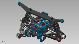 RC Car 1_8 rear suspension