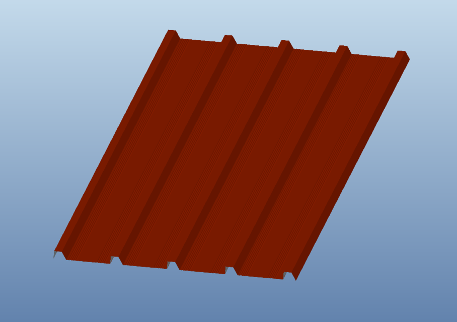 roof covering of sheet metalkrovna pokrivka od lima 3d cad model library grabcad - Roof Covering