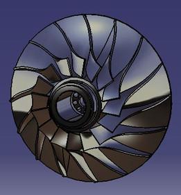 rouet centrifuge Radial impeller