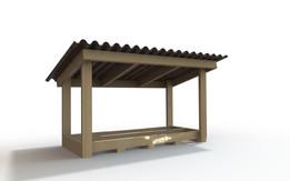 Firewood Shelter Frame