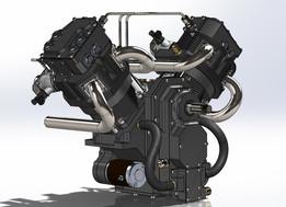 Engine, V-Twin, 4-Valve Heads