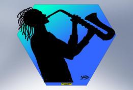 Silhouette - Sax Player