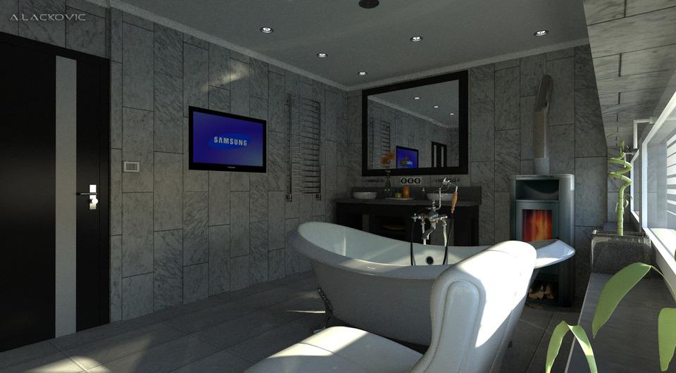 Bathroom 3d cad model library grabcad for Bathroom design online 3d