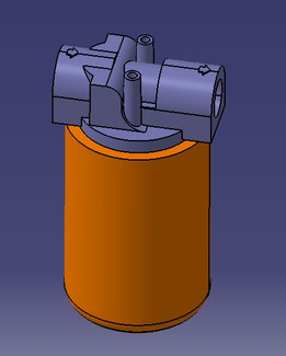 hydraulic filter with support