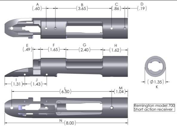 Remington 700 drawing remington 700bolt drawing remington 700