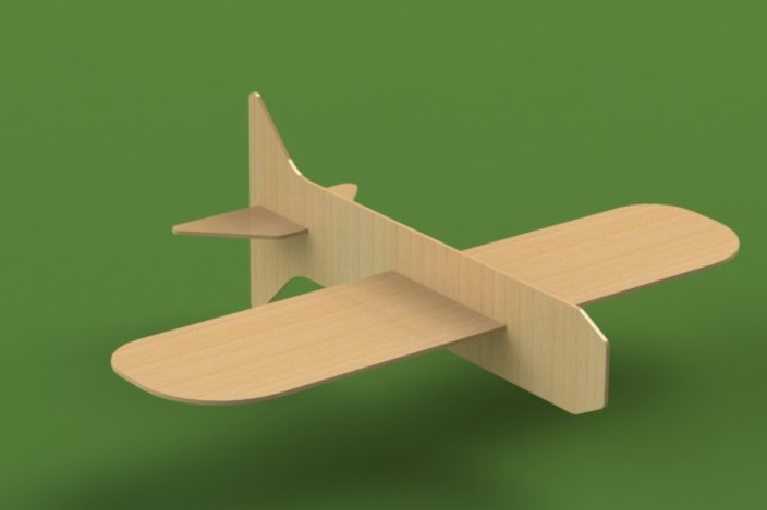 Balsa Wood Glider - AutoCAD, STL, STEP / IGES, SOLIDWORKS, Other - 3D ...