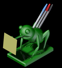 Printable Pen Holder Frog