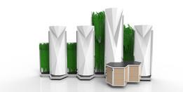 Air filtering sound barrier