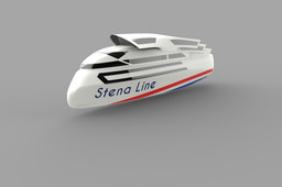 Stena ship  with reduced water resistance vol.E