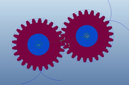 Spur gear meshing