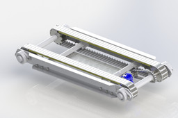 Double modular belt conveyor