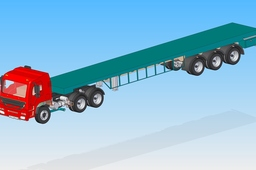 Heavy Truck With Trailer Assembly