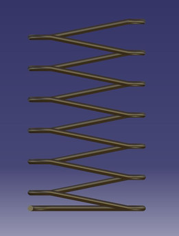 Elongated helical spring