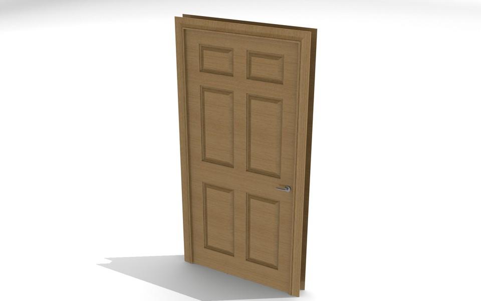 door and frame stlsolidworks 3d cad model grabcad