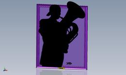Silhouette - Tuba Player