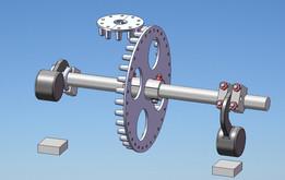 Pin wheels simulation