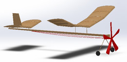 Rubber Band powered Balsa wood Airplane