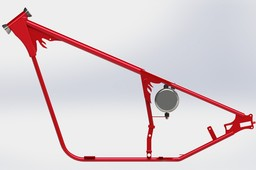 76 HD Chopper Frame