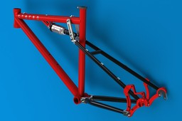 Full-suspension bicycle frame