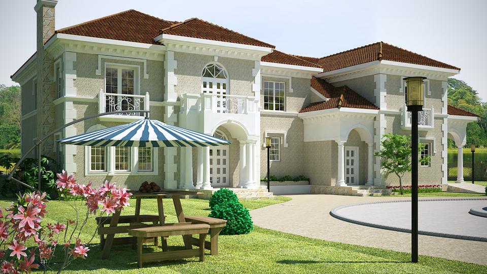 Villa exterior in 3ds max 3d cad model library grabcad - 3ds max models free download exterior ...