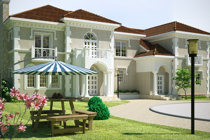 3ds Max Exterior Images Villa Exterior in 3ds Max