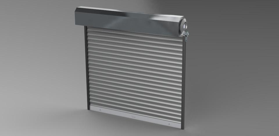 Manual Roller Shutter 3d Cad Model Library Grabcad