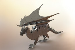 Dragon sheet metal puzzle, Dragon, 3d model, puzzle, fantasy dragon model