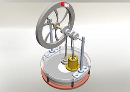 Stirling engine - Simplifed