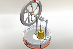 Stirling engine - Simplifed