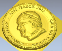 Pope Francis Conmemorative coins, Good Shepherd cross and ROSARY PRAYER MEDAL