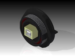 Rear Panel Mount USB Receptacle - Bulgin PX0848-B