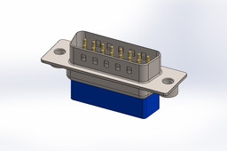 D_sub 15pin, Crimp - SOLIDWORKS\STEP