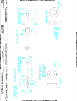 Bench Lathe Drawings