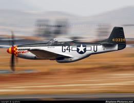 Mustang Airplane Keychain